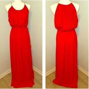 ♥️ Striking Red Maxi Halter Dress from H&M ♥️